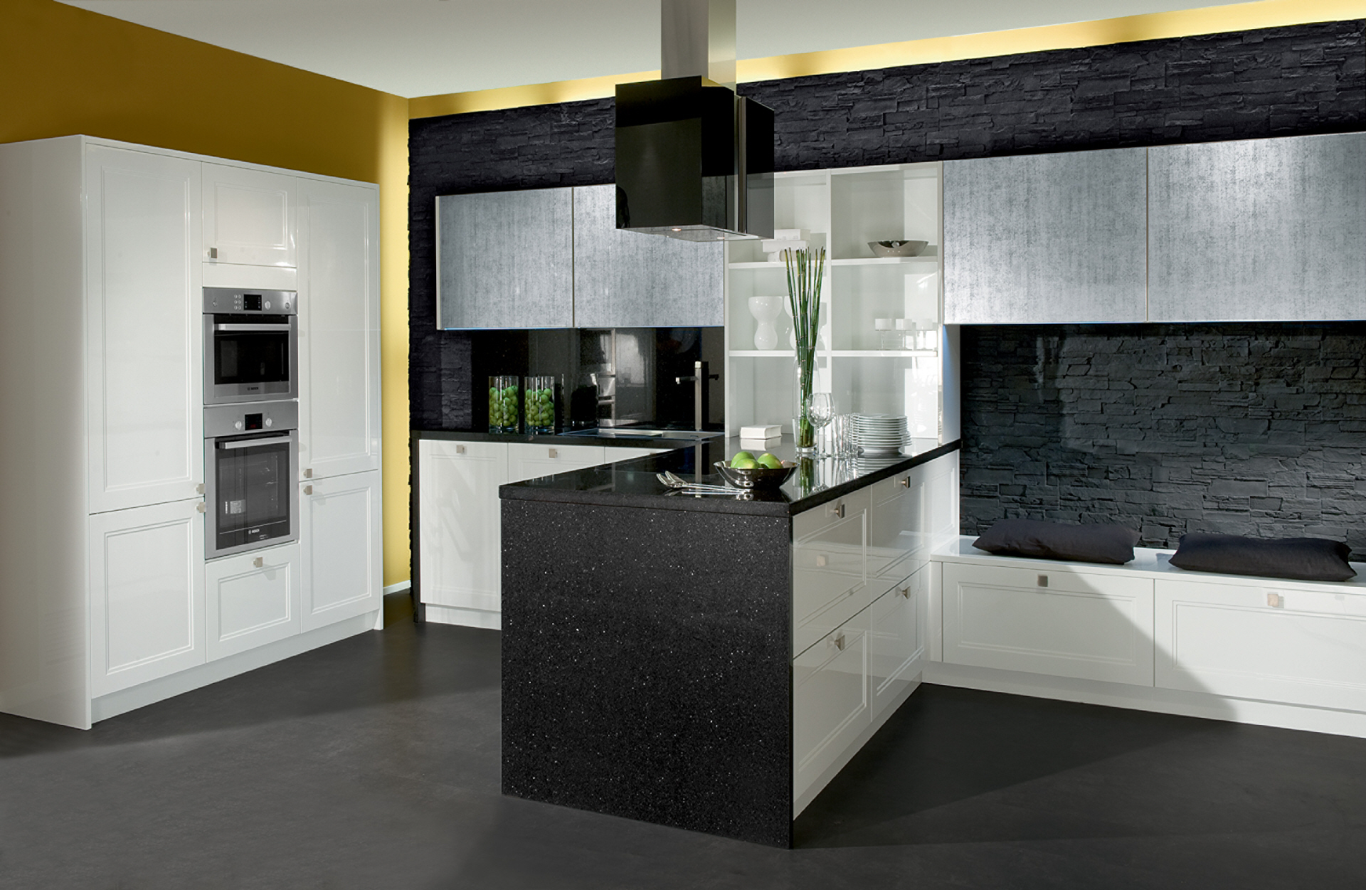 moderne k chen schwarze w nde holzschr nke pictures to pin on pinterest. Black Bedroom Furniture Sets. Home Design Ideas